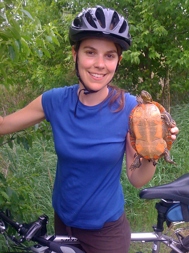Jenny with turtle