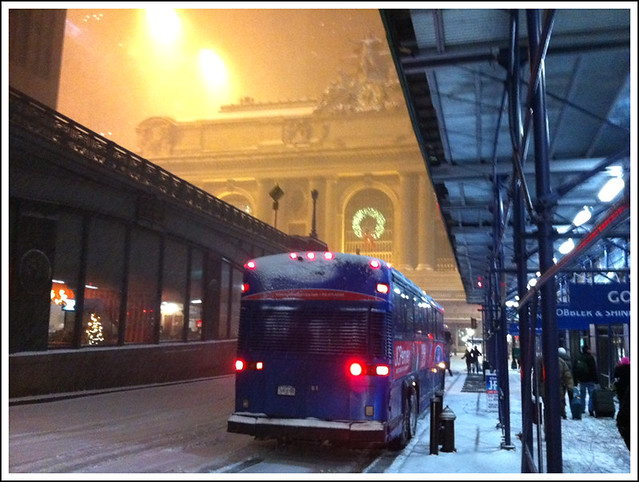 Grand Central In Snow