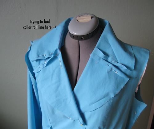 Coat muslin collar
