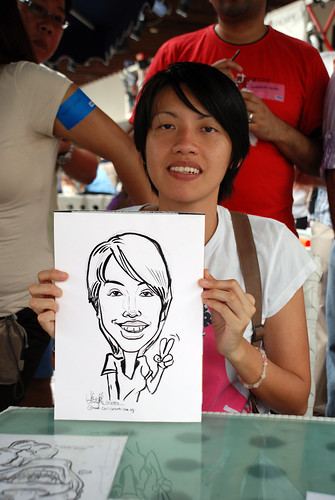 Caricature live sketching for VISA Beach Party 2010 -12