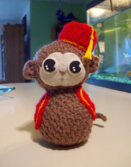 Monkey! (octosquirrelbot) Tags: monkey crochet amigurumi