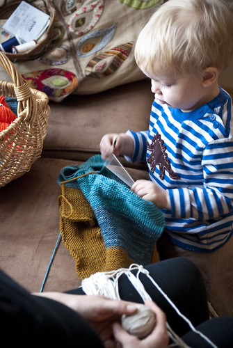 who says boys don't knit?