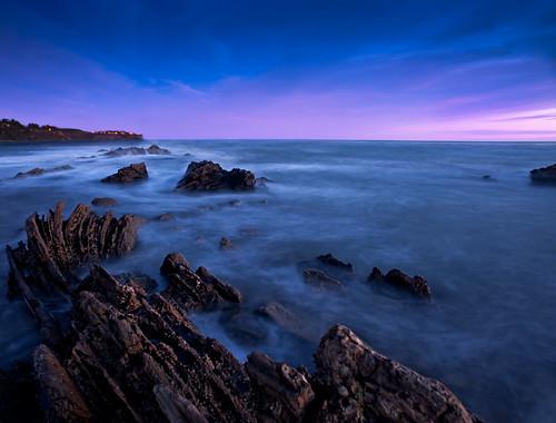 フリー写真素材, 自然・風景, 海, 海岸, 夕日・夕焼け・日没, ブルー, アメリカ合衆国, カリフォルニア州,