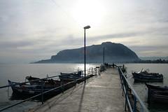 Mondello (PA) (Giulio Marguglio) Tags: panorama mare sicily palermo veduta molo sicilia controluce borgata mondello montepellegrino