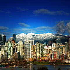 Lotus Land . Vancouver BC  .. Canada (ZedZap Photos) Tags: city travel winter vacation holiday snow canada mountains tower tourism vancouver landscape downtown bc zoom canadian vancouverisland yaletown falsecreek pacificnorthwest cypress victoriabc grousemountain nationalgeographic zedzap