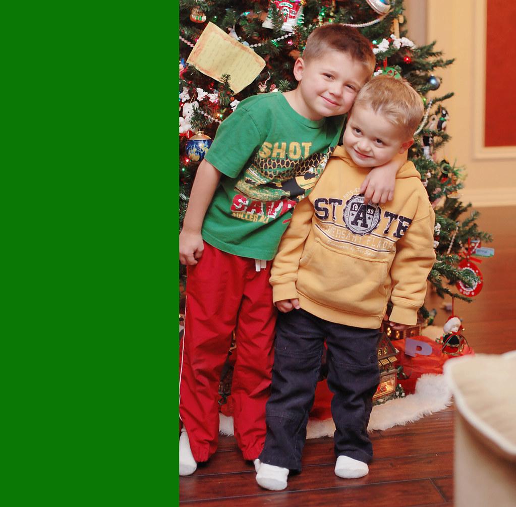 Peyton and Jayden Christmas Eve 2010