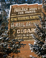 Ghost Sign,Helena,Montana (montanatom1950) Tags: snow cold advertising montana downtown helena ghostsigns helenamontana advertisingsigns