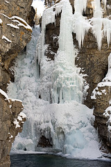 Johnston Canyon Upper Falls (brentus69) Tags: winter snow canada cold ice water rock nationalpark nikon alberta banff icicles banffnationalpark johnstoncanyon d700 nikond700 adobephotoshopcs5