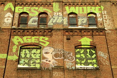 for the ages (Luna Park) Tags: nyc ny newyork brick brooklyn word graffiti ufo lunapark ages coupe 907 leeto aones muk123