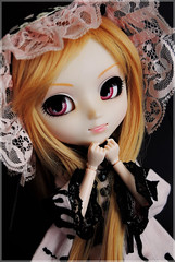 Chrie ( Z u R i ) Tags: pink black beauty doll lolita wig groove pullip sugarmag angelicpretty leeke obitsu junplanning sfoglia rewigged pullipsfoglia