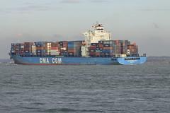CMA CGM QUARTZ (John Ambler) Tags: sign docks call vessel cargo container greece solent southampton quartz imo cmacgm mmsi svaa2 9385611 240753000 cmacgmquarts