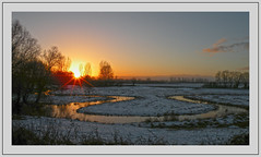 Sunset at the river Swalm (Loe Giesen) Tags: sunset zonsondergang limburg swalm swalmen loegiesen