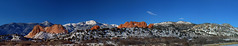 Pano: Garden of the Gods (ethanbeute) Tags: winter panorama snow colorado pano gardenofthegods panoramic coloradosprings redrocks redrock frontrange visitorcenter gatewayrock visitorandnaturecenter