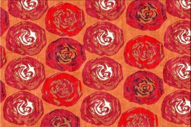 arancia floral rug