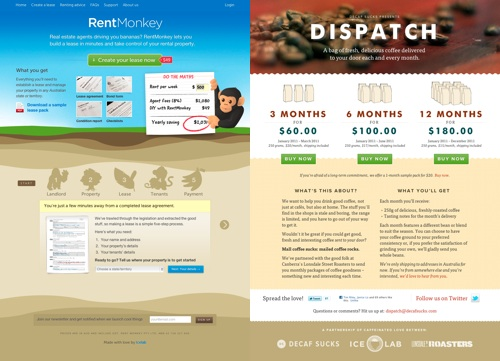 RentMonkey and Dispatch screenshots