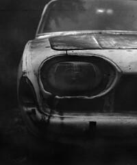 Ford Taunus (Stefan Kutsarov) Tags: old white black abandoned film rust dust scratch corrosion fordtaunus