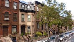 Brownstone rowhouses in Bedford-Stuyvesant, Brooklyn, New York, October 2010 (PaChambers) Tags: street new york city nyc newyorkcity trees houses urban usa newyork apple architecture brooklyn america buildings spectacular geotagged bedford lumix la grande big interesting october cityscape unitedstates 10 manhattan sesame centre united unitedstatesofamerica oct north cities center panasonic explore sesamestreet williamsburg northamerica sensational metropolis states stuyvesant nueva bigapple neighbourhood impressive brownstone neu brownstones 2010 rowhouses nuevayork cityofnewyork municipality bedfordstuyvesant oct10 lagranmanzana nyuu tz7 neuyork lamanzanagrande nyuuyooku october2010 tz8 tz6 tz9 yooku tz10