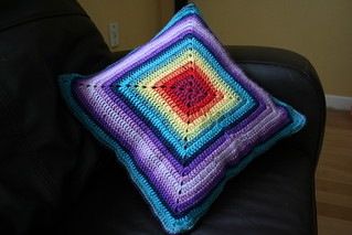 """Unholey Granny Square - 12"""" square pattern by Melinda Miller"""