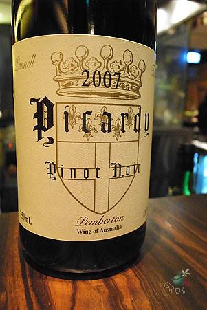 Picardy, Australia, pinot noir, 2007