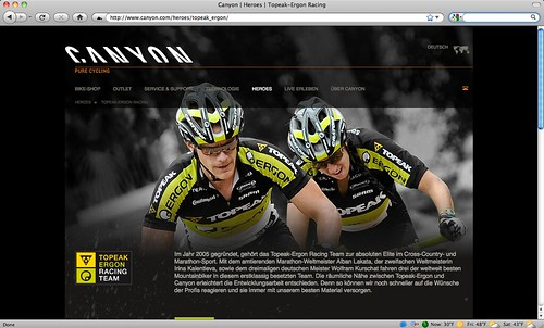 Team page on Canyon.com