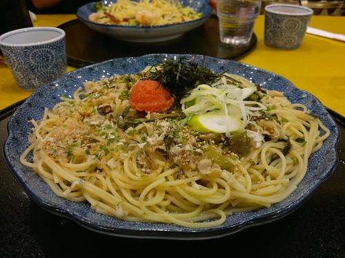 Mentaiko Karashi Takana Supageti