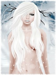 Snow Day (Quinn Swashbuckler) Tags: winter snow moloko avatar sl elf secondlife virtual faun fae illusory magika slink poeticcolors