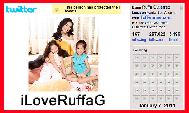 Ruffa Gutierrez is iLoveRuffaG on Twitter by MsRuffa