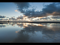 Blue beach, Crosby. Explored Frontpage (Ianmoran1970) Tags: blue sunset sky cloud reflection beach wet water landscape sand boots ripple explore gt frontpage crosby muddyboots explored ianmoran ianmoran1970