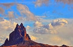 Ship Rock, New Mexico (Deby Dixon) Tags: newmexico southwest tourism rock clouds landscape photography evening travels nikon stormy adventure exploration 2009 deby allrightsreserved shiprock naturephotographer debydixon debydixonphotography