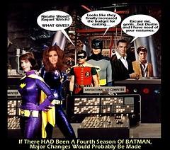 BATMAN : YEAR FOUR (DarkJediKnight) Tags: robin television batcave humor 1966 raquelwelch batman parody batgirl seanconnery remake catwoman adamwest nataliewood dustinhoffman burtward recast