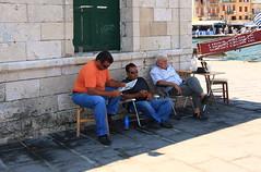 Morning News (kcezary) Tags: street travel summer tourism island holidays harbour greece crete  chania
