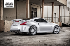 ISS Forged Nissan 370Z Nismo (GREATONE!) Tags: urban building silver nikon nissan mesh florida miami wheels tires mia rims fla forged iss slammed nismo 370z d300s