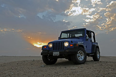 Wrangler (Najim J. Almisbah) Tags: sunset nikon desert d s kuwait 300  wrangler   najim         almisbah
