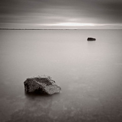 Two Rocks II (dougchinnery.com) Tags: blue sea sunrise grey dawn bay coast seaside rocks yorkshire overcast minimal east minimalism minimalist nab saltwick