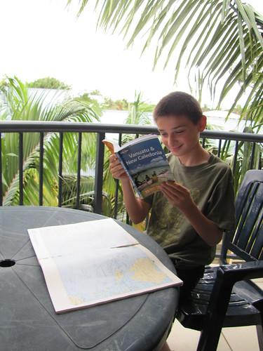Brendan Researching Vanuatu