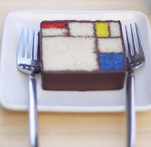 Mondrian cake, SF MOMA
