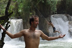 Forced Perspective! (_Codename_) Tags: waterfall ryan waterfalls laos forcedperspective luangprabang 2010