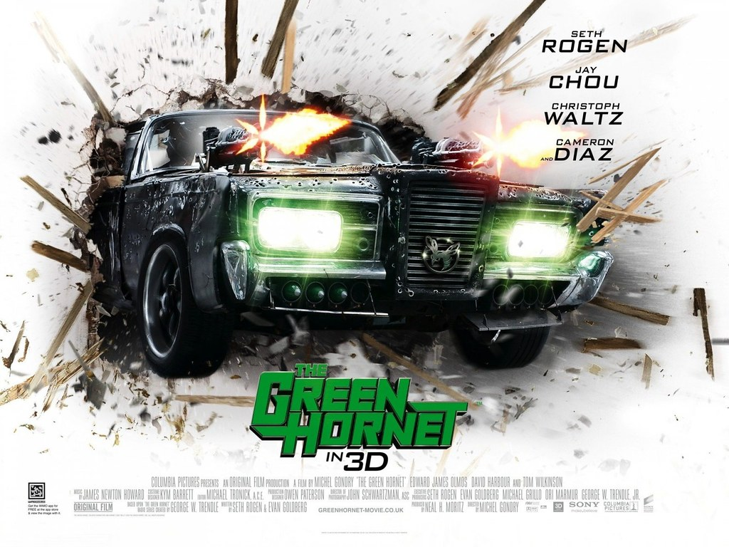 Seth Rogen and Jay chou in The Green Hornet 2011 Action movie