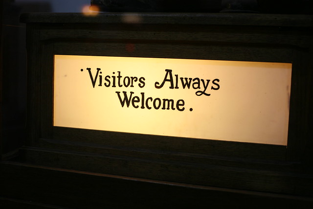 Visitors Always Welcome.