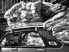 Overloaded in Cairo (chrisjohnbeckett) Tags: street urban blackandwhite bw car transport egypt cairo blankets overloaded overloading chrisbeckett