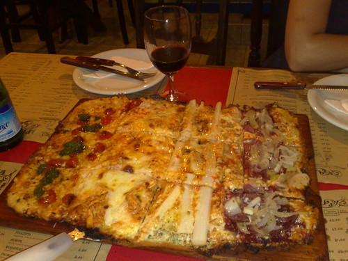 Pizza quadrada em BH