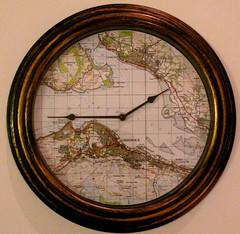 Rhu Clock (compassalba) Tags: blue sky seagulls castle clock scotland greenock edinburgh handmade naomi reflextion commision dancebase rhu compassalba hareedinburgh