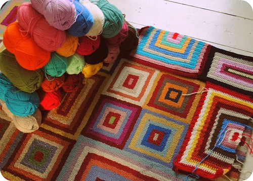 a blanket for the rug ::