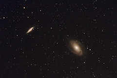 Galaxies dans la Grande Ourse (M81, M82)