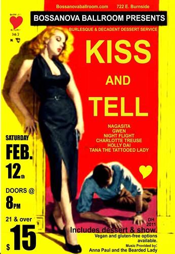 Win Tickets ($30): Portland Valentine's Event @ Bossanova Ballroom | A Decadent Dessert Service And Show