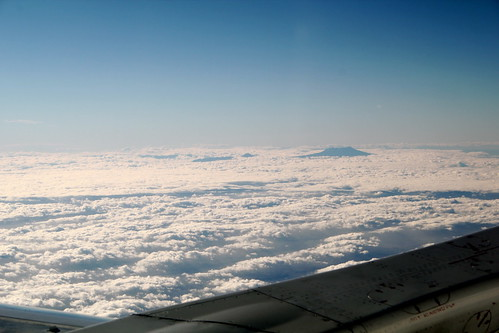 Mountains through the clouds