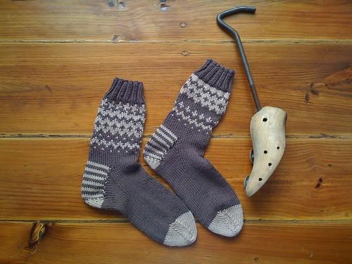 meias tricotadas pela Bárbara Fachada