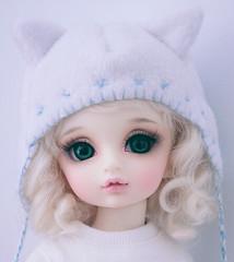 kitty hat (Cyristine) Tags: anime cute girl cat ball asian japanese doll kitty kawaii neko bjd volks lorina jointed yosd