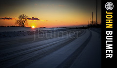 Farm Road : Easton, NY (john bulmer) Tags: road sunset snow newyork tree field rural dirt easton firstlightlastlight johnbulmerphotography