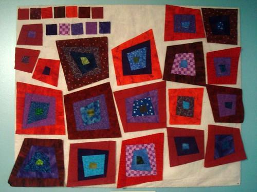 Rainbow Wonky Squares